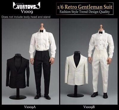 """1/6 Scale Retro Gentleman Suit Fashion Design Clothes Fit 12"""" Male Action Figure 2"""