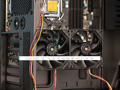 OSALADI Steady Graphics Card Fan Bracket Black Metal Graphics Card Fan Rack for Computer Cooling System Easy Installation