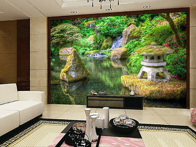 Garden Beauty Japanese Park 3D Full Wall Mural Photo Wallpaper Printed Home Deca