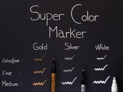 Extra Fine 1.0mm Pilot 10 Colors Marker Pen Metallic Paint Permanent Ink Mark