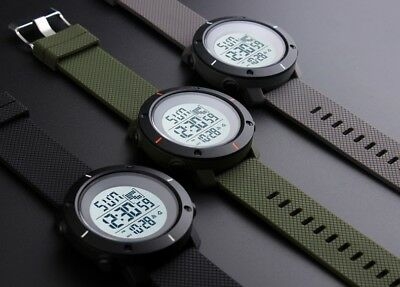 Fashion Men's LED Date Waterproof Digital Quartz Military Army Sport Wrist Watch 11