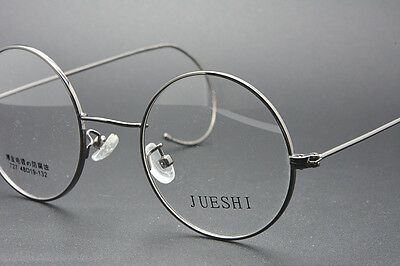 0328d7aab5a 4 of 5 48mm Vintage Round Gold wire rim Eyeglass frames Eyewear glasses  RX-able Grey