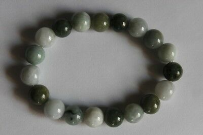 "Gemstone 100% Natural Untreated ""Grade A"" Jadeite JADE Beads Bracelet #Br268 2"