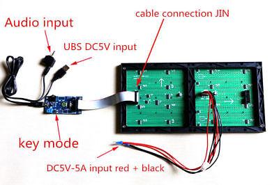 MS3264 LED Music Audio Spectrum Level Display Screen Indicator VU Meter 6 Modes 4