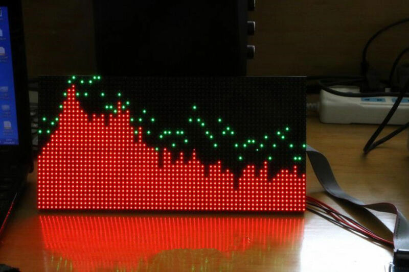 Details about  /AS3264 full color RGB music spectrum display screen finished 50 mode 32*16CM