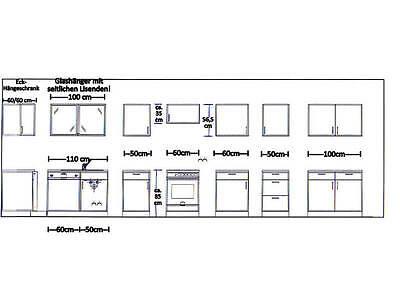 Spülenunterschrank m.Auflagespüle//Armatur+Hängeschrank MANKAPORTABLE Buche 100cm