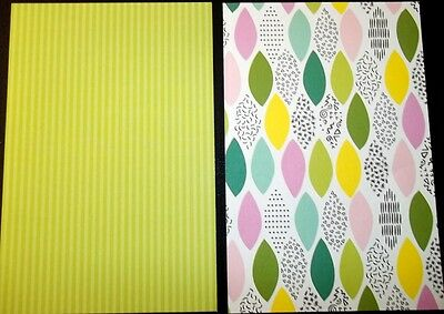 """Colourful Scrapbooking/Cardmaking Papers *TROPICAL OASIS* - 15cm x10cm (6"""" x 4"""")"""