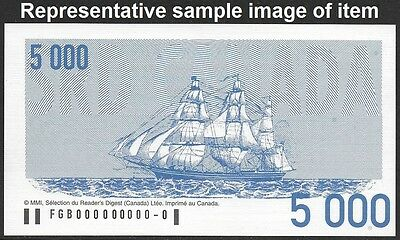 Reader/'s Digest 2001 Canada Sweepstakes advertising Note $5000 FRENCH Coupon