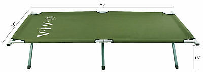 VIVO Green Camping Cot, Fold up Bed, Military Style Cot, Carrying Bag Included 2