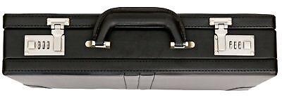 Tassia Attache Briefcase Leather Look Pu Business Bag Expanding Executive Case