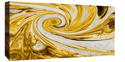 Modern Mustard Yellow And Grey Spiral Swirl Abstract Canvas Wall Art Print 11 49 Picclick Uk