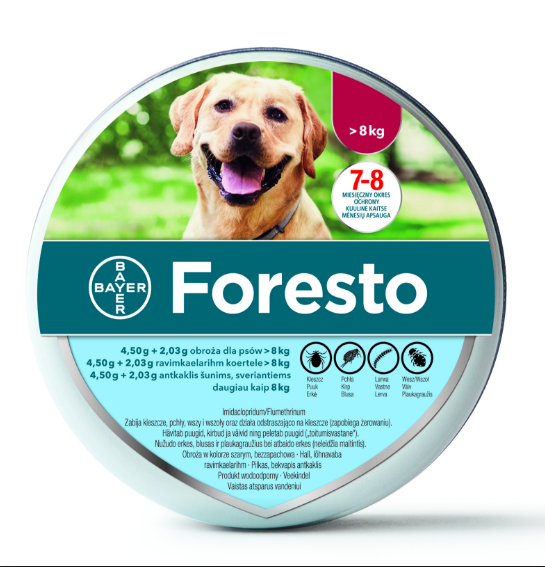 2PACK Bayer Seresto/Foresto Flea & Tick Collar For Large Dogs over 18lbs (8kg) 2