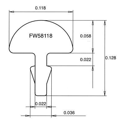 Jescar FW58118-S Stainless Steel Electric Super Jumbo Fretwire Pre-radiused
