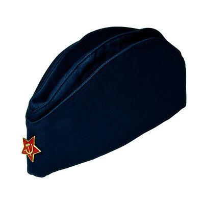134a26419 SOVIET RUSSIAN ARMY Pilotka Kgb Forses Pilot Tanker Sailor Military Uniform  Hat