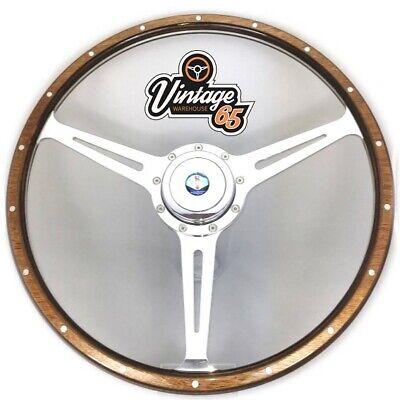 Morris Minor 1000 Classic Chrome Alloy Steering Wheel Boss Kit /& Horn Push Kit