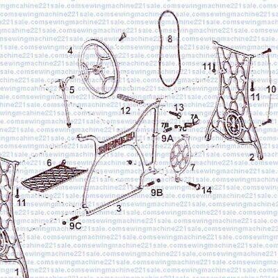 singer sewing machine treadle belt & maintenance kit 3