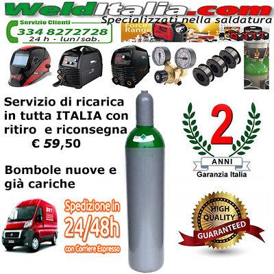 Bombola Miscela Argon Co2 Da 5-7-10-14-27-50 Lt Saldatrice Filo 200 Bar Ee Piena 2