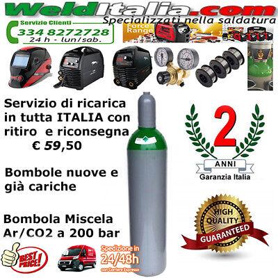 Bombola Argon Da 5-7-10-14-27-50 Lt Saldatrice Filo E Tig 200 Bar Ee Gia' Carica 2