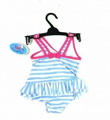 Peppa Pig Girls Stripe Frill Splashing Swimsuit Swimming Costume Age 2 3 4 5 6 2