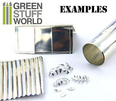 Feuille de métal flexible - Papier Étain 10x45cm - Embossage Gaufrage bosselage