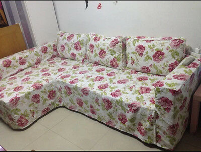Groovy Custom Made Cover Fits Ikea Manstad Sofa Bed With Chaise Short Links Chair Design For Home Short Linksinfo