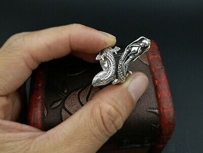 925 Sterling Silver Men's dragon punk  Retro ring rings Jewelry S3406 4