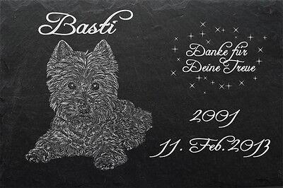 Rottweiler GRABSTEIN Tiergrabstein Gedenkstein Hund 016 ►Textgravur◄ 30 x 20 cm