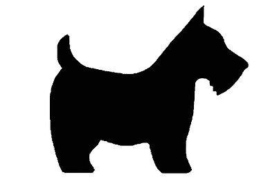 Scottie scotty dog Stencil Shabby Chic Rustic Mylar style A4 297x210mm design 1