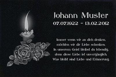 Motiv Engel g07 Grabstein Grabplatte Grabschmuck Granit 60x30 cm Wunsch Gravur
