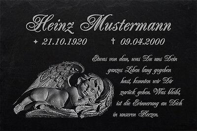 Gravur◄ 20 x 15 cm Grabstein Grabplatte Gedenktafel Hände zum Gebet ►Wunsch