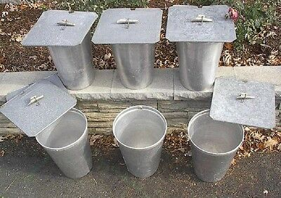 SQUARE Lids Covers READY TO USE 25 MAPLE SYRUP Sap BUCKETS Taps Spouts Spiles