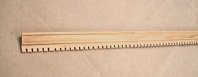 Crown Molding 2 dollhouse miniature basswood trim 6pc 1//12 scale cornice MW12022