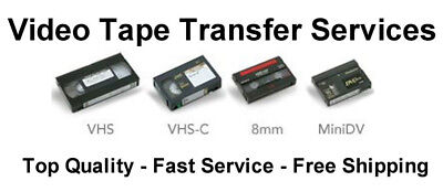 Transfer / Copy Your VHS Video Tape's to DVD or MP4 -  Fast Reliable Service 3