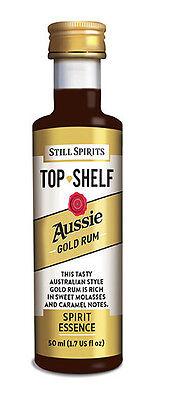 Still Spirits Top Shelf Spirit Essences AUSSIE GOLD RUM BOX OF 10 2 • AUD 67.00