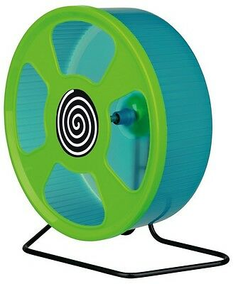 "Large Solid Plastic Hamster Exercise Wheel With Stand 20 cm 8"" By Trixie NEW"
