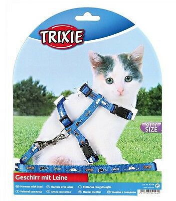 Harness and Lead Set For Kittens Sm Cats Collar TRIXIE 4144 4 • EUR 6,57