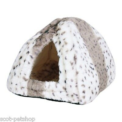 NEW PLUSH LUXURY Cuddly Cave Bed For Cats Kittens Small Dogs Leila 3714 2