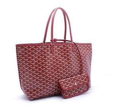Women Fashion Tote Large Shopper Bags Canvas/Leather Handbag Medium Purse 3