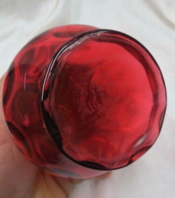 vintage 1890 era Sugar Shaker Muffineer Northwood or Fenton Cranberry thumbprint 7