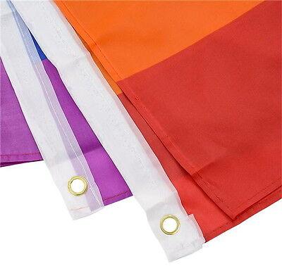 "Rainbow Flag 3 x 5 FT Gay Pride Lesbian 36/"" x 60/"" LGBT Flag with Grommets"