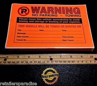 Pack Of 50! ⭐(Best-Price!)⭐ No Illegal Parking Window Violation Warning Stickers 2