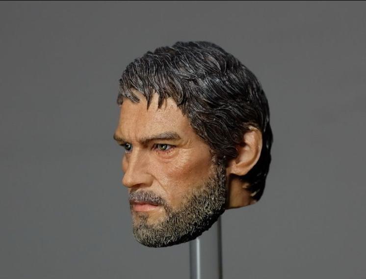 "Realistic 1//6 Male The Last of Us Joe Head Sculpt For 12/"" Action Figure Body"