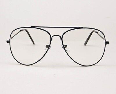 LARGE ROCK STAR Big Aviator Frames Fashion Clear Lens Eyeglasses ...