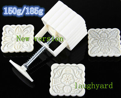 2016 New Version Concave Round Moon Cake//pastry Mold 50g One Barrel 6 Stamps
