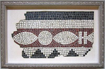 ANCIENT ROMAN MOSAIC PANEL FRAGMENT, circa 1st - 2nd Century A.D. 2