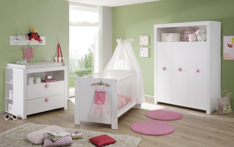 Wickelkommode weiß Babyzimmer Wickel Tisch Aufsatz 85x75 cm Set mit Regal Olivia