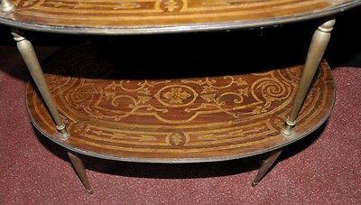 Pair Antique French Empire Shelf Unit Bookcase Kidney Bean Tier 8