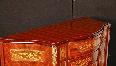 Pair French Empire Cabinets Chests Marquetry Inlay 3
