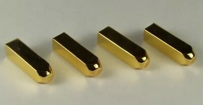2 Pairs Square Gold Metal Shoe Lace End Tips Aglets Replacement For Air Boots