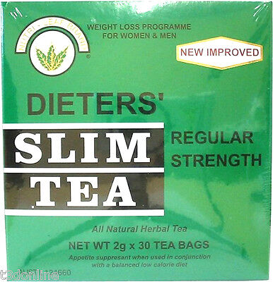 4 x 30 Tea Bag(120 bags)NUTRI LEAF Dieters Slim Tea Weight Loss Regular Strength 2